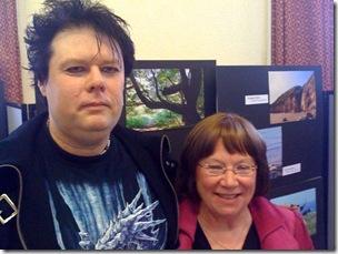 Easington Writers Terry Dobson and Mavis Farrell